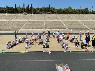 Ολυμπιακή Ημέρα – Kids' love Sports πρόγραμμα με πρόσφυγες στο Παναθηναϊκό Στάδιο